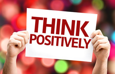 Think Positively card with colorful background