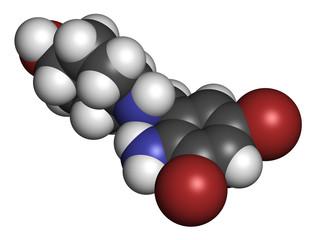 Ambroxol secretolytic drug molecule.