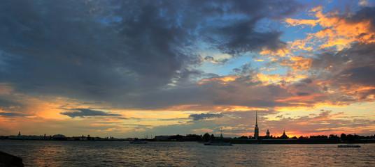 St. Petersburg at sunset