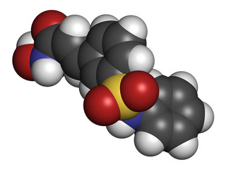 Belinostat cancer drug molecule.