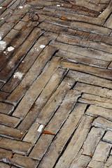 wooden parquet floor cracked