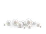Beautiful realistic pearl set illustration vector