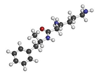 Lisdexamfetamine mesylate ADHD treatment drug molecule.