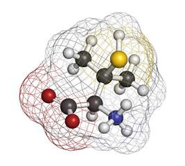Penicillamine drug molecule. Used as chelating agent.