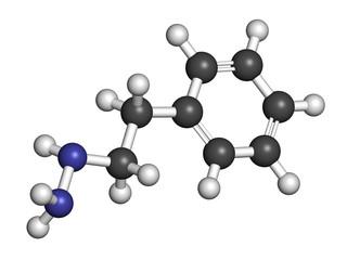 Phenelzine antidepressant molecule.