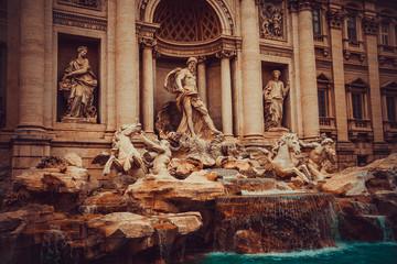 Trevi Fountain in Rome, Italy.