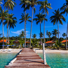 Vacations And Tourism Concept. Tropical Resort. Beautiful tropic