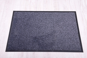 Grey carpet on floor close-up