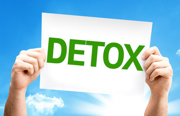Detox card with a beautiful day