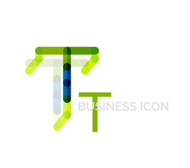 Minimal T font or letter logo design