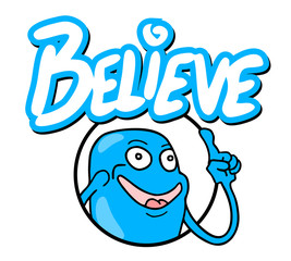 Believe icon message