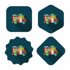 Transportation vendor carts flat icon with long shadow,eps10
