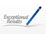 exceptional results message sign poster