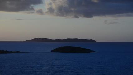Exotic Caribbean islands in twilight
