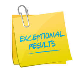 exceptional results memo post