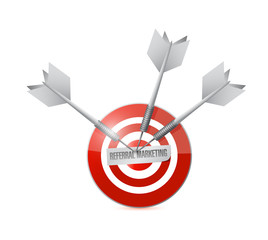 referral marketing target illustration