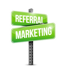 referral marketing sign illustration
