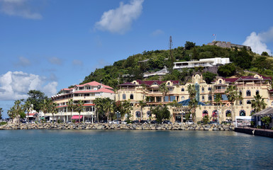 Waterfront view of Marigot, St Martin