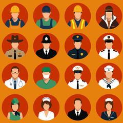 vector icon workers, profession people,