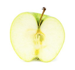 Front inside view of tasty juicy apple