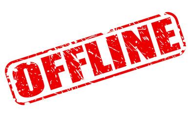 Offline red stamp text