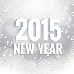 2015 new year text written in white