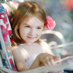 Adorable little girl portrait