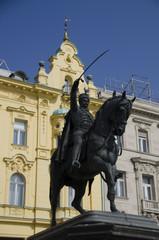 famous zagreb statue