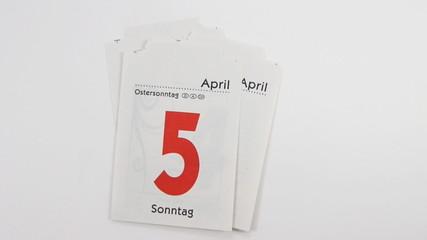 Alle Tage im April