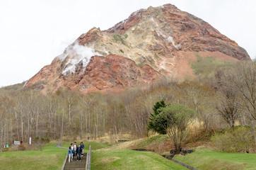 昭和新山と新緑 北海道