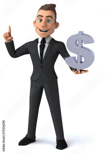 canvas print picture Fun businessman