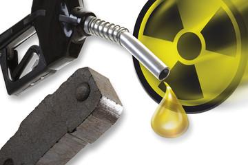 Düse, Brikettfabriken und nukleare Symbol