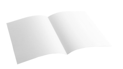 Paper sheet isolated on white