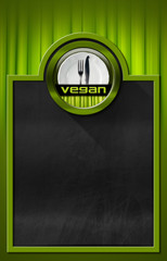 Blackboard with Vegan Symbol