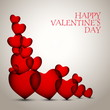 Valentines Hearts vector card greetings - design template