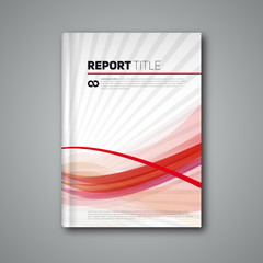 Modern abstract brochure or book, Vector flyer design template