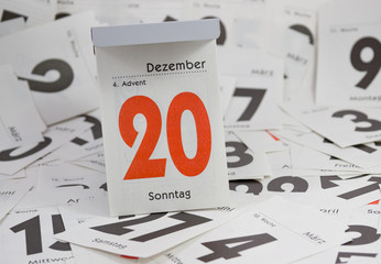 4. Advent, Abreisskalender