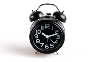 alarm clock on white blackground
