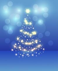 Christmas fir-tree blue