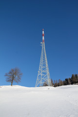 Winter Landscape Broadcasting Tower Mitterberg
