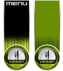 Two Vegan Menu Banners