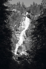 Waterfall in Vancouver island. British Columbia. Canada