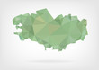 Low Poly map of french region Bretagne