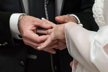 Scambio degli anelli matrimoniali