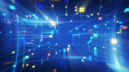 twitching squares loopable techno background