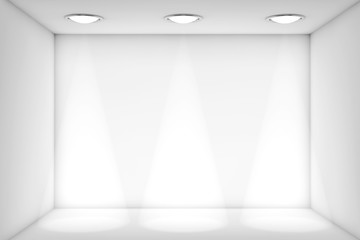 White room with Light for exhibition