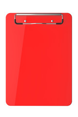 Red plastic clipboard