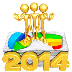 Business Team With Business Reports And The Year
