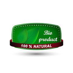Natural product vector icon, label or badge