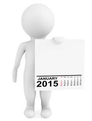 Character holding calendar January 2015